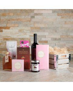 Sweetheart's Delight Chocolate & Wine Gift Set