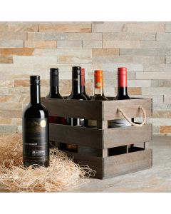 The Brindisi Six Wine Basket - With House Wines
