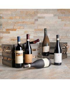 The Brindisi Six Wine Basket - With Premium Vintage Wines