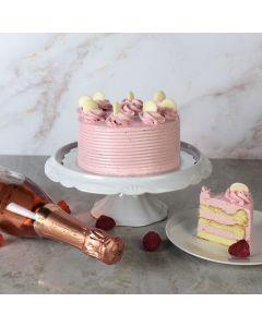 Vanilla Cake with Strawberry Buttercream