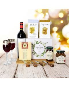 Holiday Wine & Cheese Pairing Basket