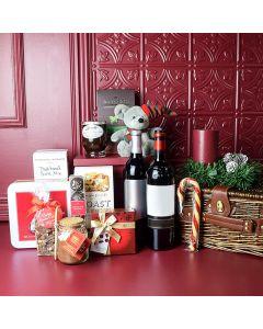 Bountiful Holiday Wine Gift Basket
