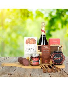Artisanal Cheese & Meats Champagne Gift Basket
