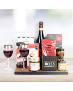 Country Wine & Cheese Gift Board