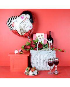 Parisian Romance Gift Basket
