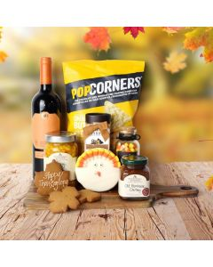 Thanksgiving Wine Tray Gift Set