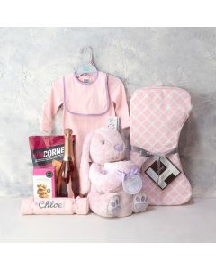 BRIGHT BEGINNINGS BABY GIRL GIFT BASKET
