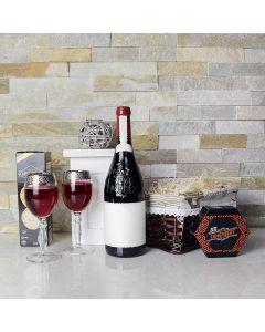 Classic Camembert Cheese &Wine Gift Basket