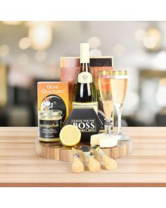 Gourmet Maple Salmon & Wine Gift Basket