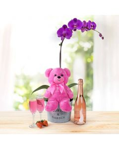 Orchid & Plush Valentine's Day Gift Set