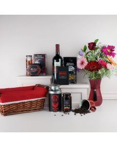 """""""Made with Love"""" Chocolate and Coffee Gift Basket"""