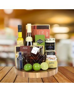 The Ultimate Salmon & Wine Gift Basket