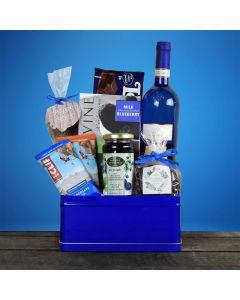 Bold In Blue Kosher Wine Gift Basket