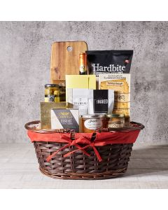 The Wine & Cheese Shop Basket, Wine Gift Baskets, Gourmet Gift Baskets, USA Delivery