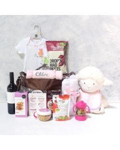 AN ANGEL BABY GIRL GIFT SET WITH WINE