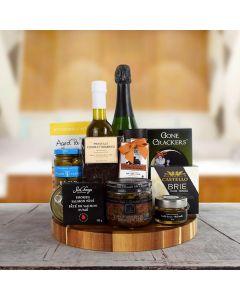 Gourmet Grandeur Champagne Gift Basket