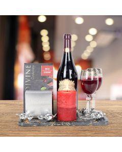 Gourmet Chocolate & Cherries Wine Gift Basket