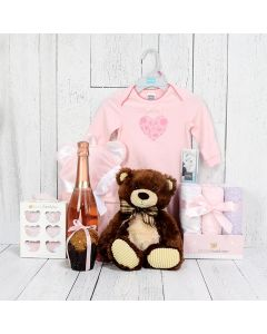 CHUBBY BUBBLY WEE GIRL GIFT BASKET