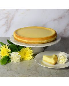 Large New York Style Plain Cheesecake