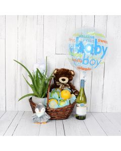 New Beginnings Baby Gift Set with Wine