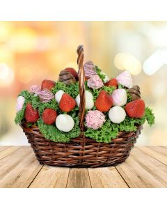 The Blooming Chocolate Dipped Strawberry Gift Basket