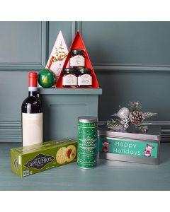 Wine & Jam Christmas Gift Basket