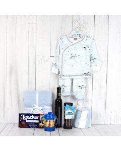 Wafers & Wine Baby Gift Basket