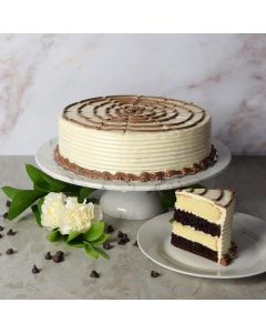 Large Black + White Layer Cake