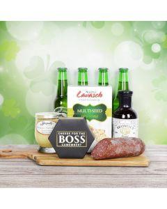 St. Patty's Beer & Savory Snacks Gift Basket