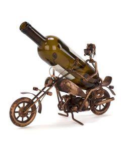 Biker Metal Wine Holder - Includes Wine!