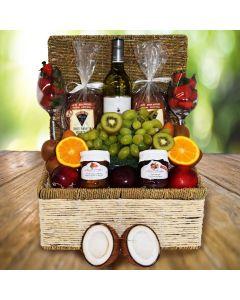 The Golden Coast Fruit & Wine Basket