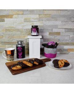 Gourmet Coffee & Macaroons Gift Basket