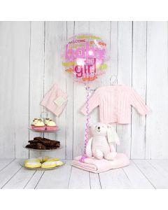 Welcome Sweet Baby Girl Gift Basket