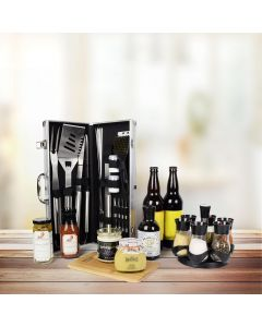 World's Best Barbequing Gift Basket with Beer
