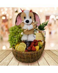 """Get Well Puppy"" Fruit Basket"