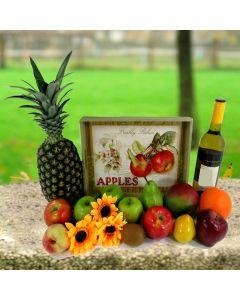 Good Harvest Wine & Fruit Tray