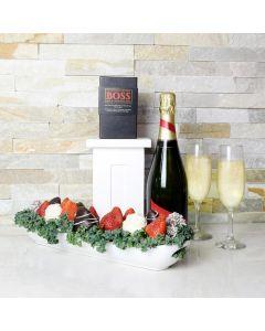 World's Best Mom Champagne Gift Basket