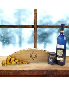 Happy Hanukkah Menorah Basket