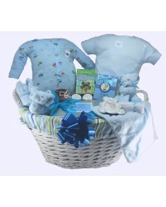 The Bouncing Baby Boy Gift Basket