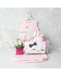A LITTLE LOVE BABY GIRL GIFT BASKET