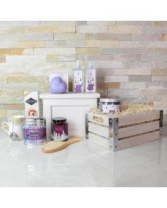 Lavender Bath and Tea Time Basket
