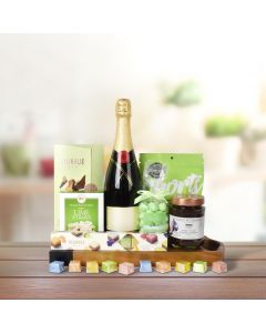 GREEN ISLE SWEETS CHOCOLATE & CHAMPAGNE BASKET