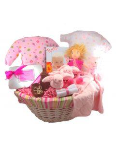 Kushies Duo Baby Girl Gift Basket