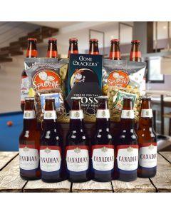 Canadian & Buds Beer Gift Basket