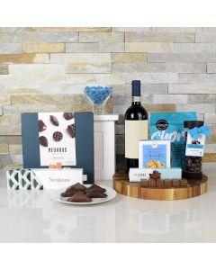 CHOCOLATES & WINE PAIR GIFT BASKET