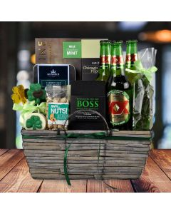 """Kiss Me I'm Irish"" Gift Basket"