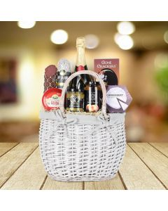 Champagne and Cheese Extraordinaire Gift Basket