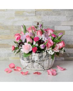 Floral Bouquet in a Basket