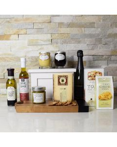 Gourmet Accents & Champagne Gift Basket