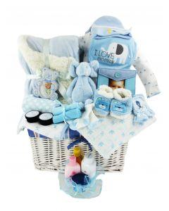 Soft & Snuggly Baby Boy Gift Basket